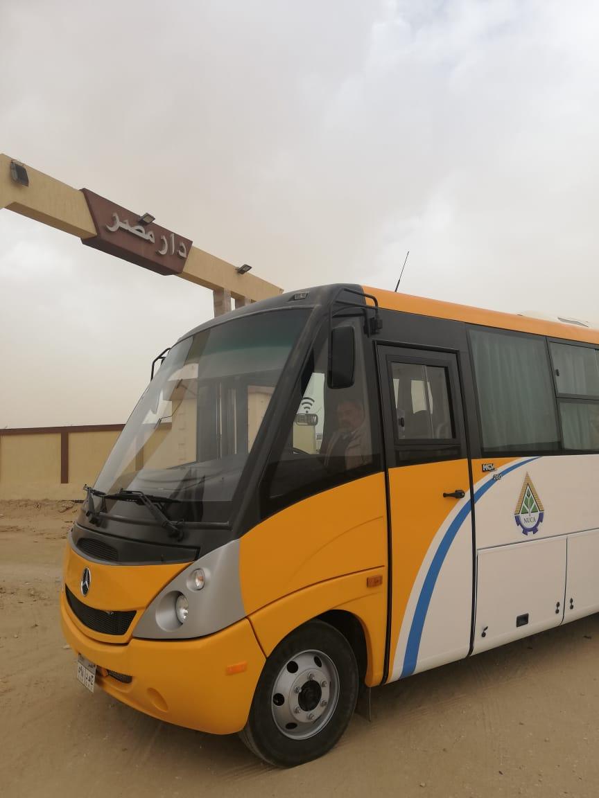 بدء التشغيل التجريبى لمنظومة النقل الداخلي بمدينة القاهرة الجديدة (1)