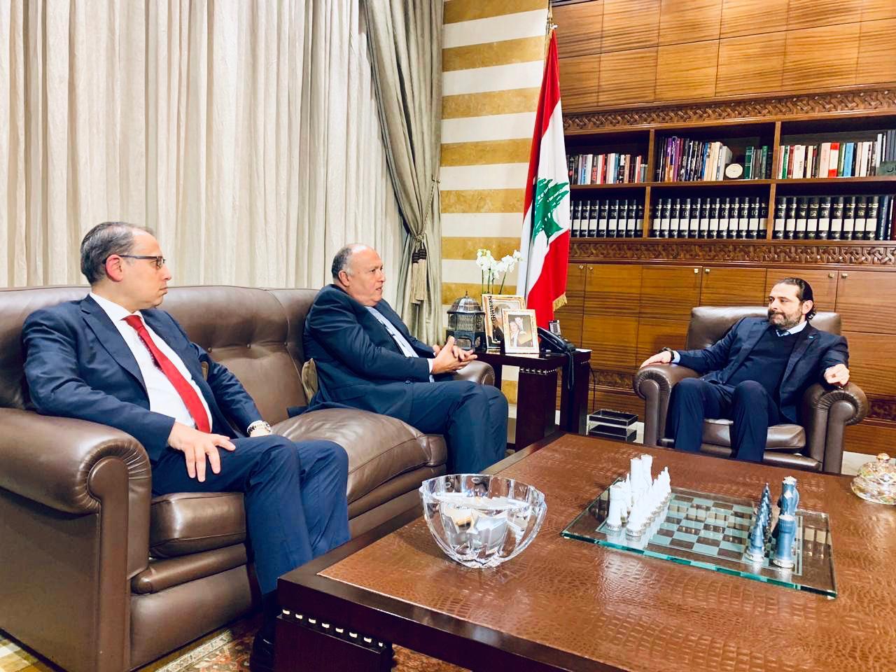 وزير الخارجية يلتقى سعد الحريرى