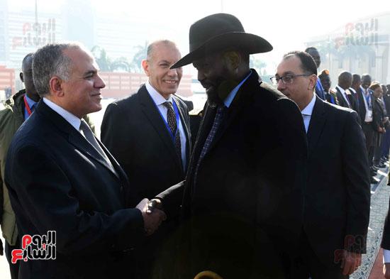 رئيس الوزراء يودّع سلفاكير بالمطار بعد انتهاء زيارته للقاهرة (8)
