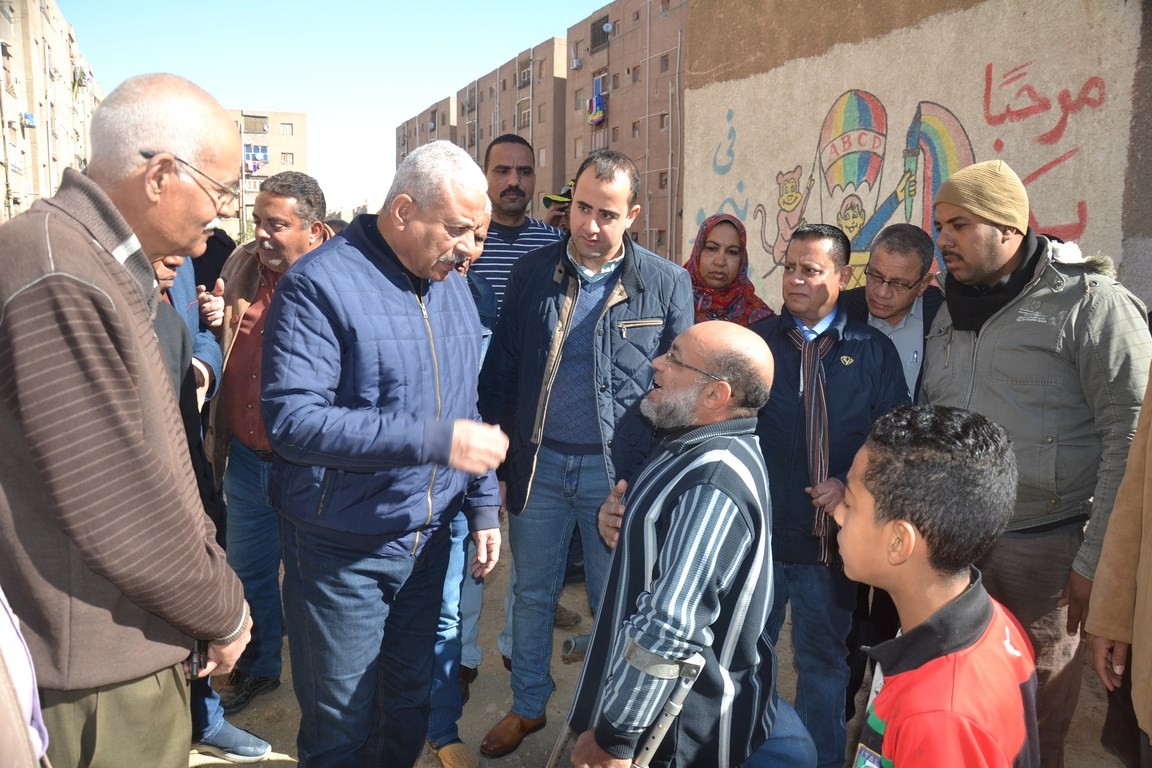 استكمال تطوير مدينة تعاونيات القاهرة بمحافظة السويس (8)