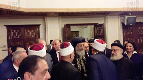البابا تواضروس يستقبل التهنئة بعيد الغطاس فى الإسكندرية  (4)