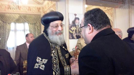 البابا تواضروس يستقبل التهنئة بعيد الغطاس فى الإسكندرية  (11)