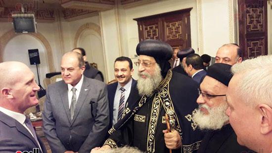 البابا تواضروس يستقبل التهنئة بعيد الغطاس فى الإسكندرية  (5)