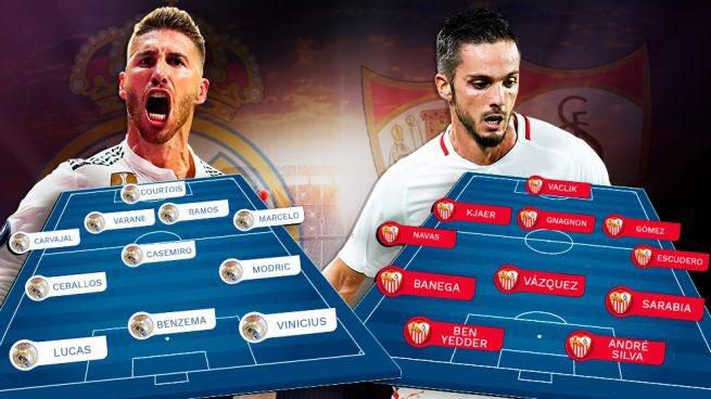 تشكيل ريال مدريد ضد إشبيلية