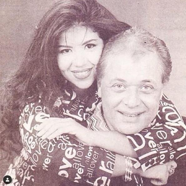 بوسى وزوجها الراحل محمود عبدالعزيز