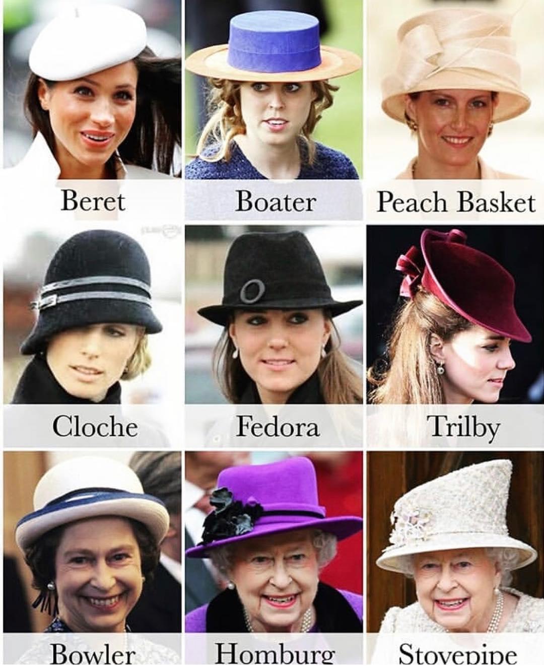 قبعات أميرات العائلة المالكة البريطانية
