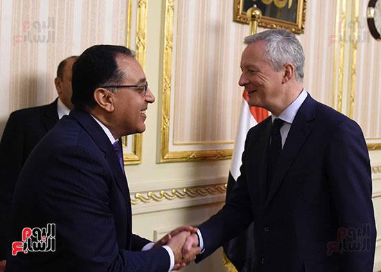مصطفى مدبولى وبرونو لومير وزير الاقتصاد والمالية الفرنسي (1)