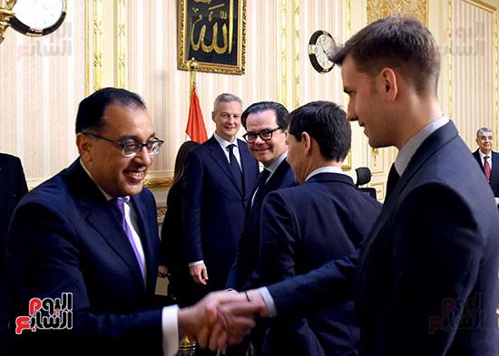 مصطفى مدبولى وبرونو لومير وزير الاقتصاد والمالية الفرنسي (4)