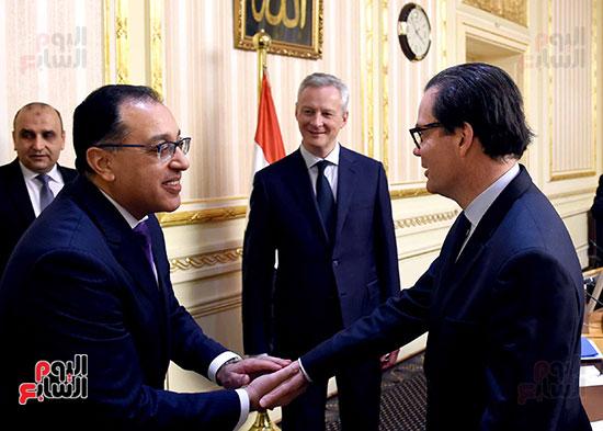 مصطفى مدبولى وبرونو لومير وزير الاقتصاد والمالية الفرنسي (2)
