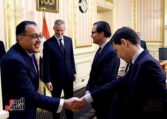 مصطفى مدبولى وبرونو لومير وزير الاقتصاد والمالية الفرنسي (3)