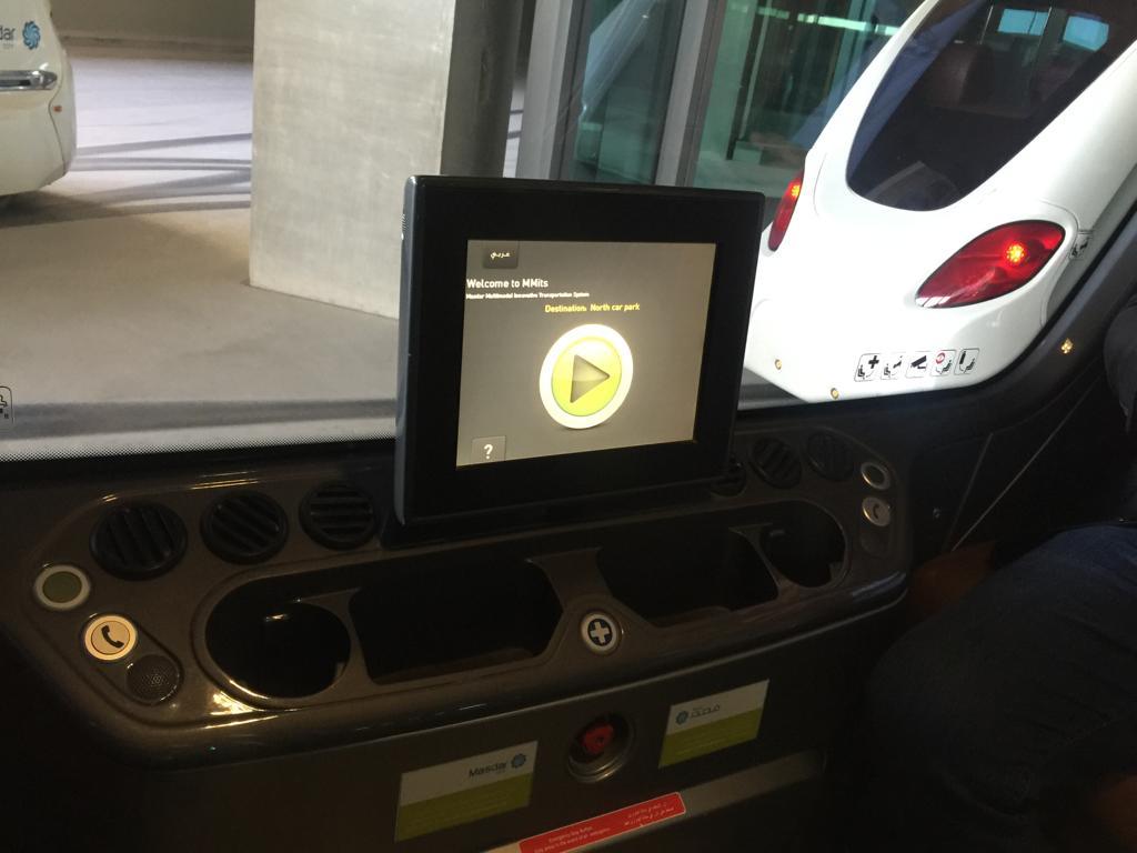تجارب السيارات ذاتية القيادة داخل مدينة مصدر بأبوظبي (2)