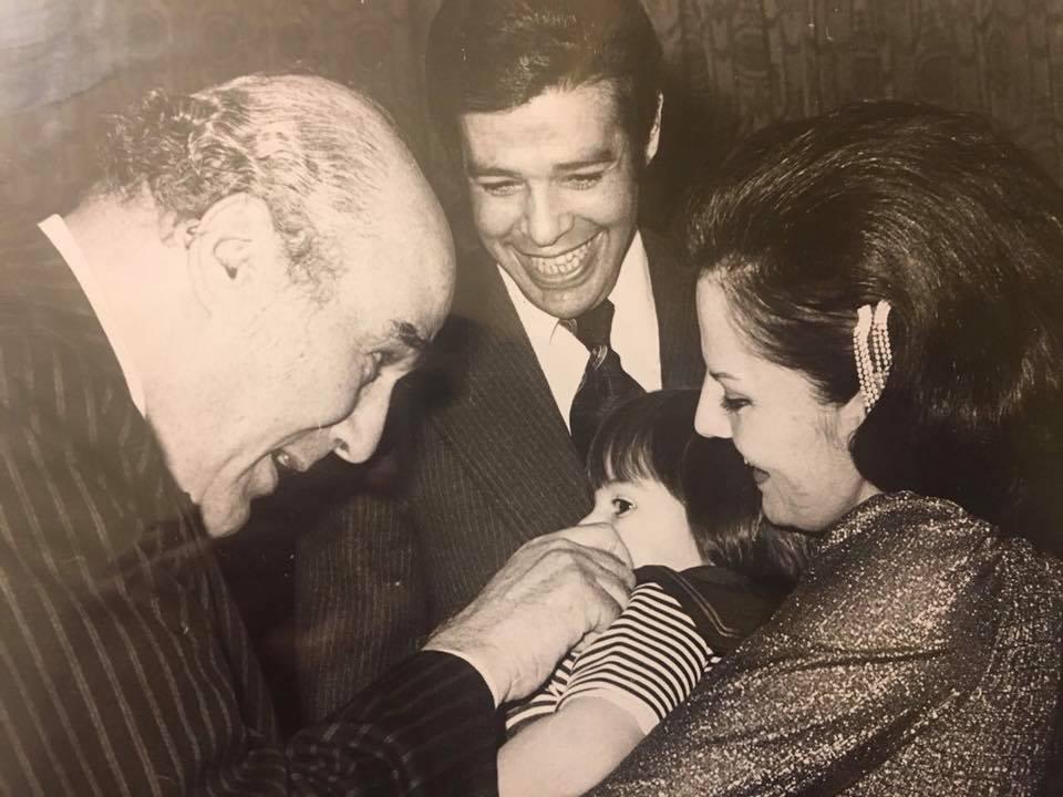 ابراهيم سعدة مع مصطفى أمين