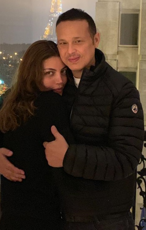 ريهام حجاج وزوجها محمد حلاوة
