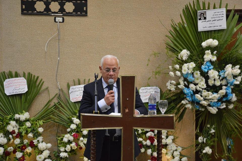 عزاء الراحل الدكتور حلمى قادس راعى الكنيسة الإنجيلية ببورسعيد (5)
