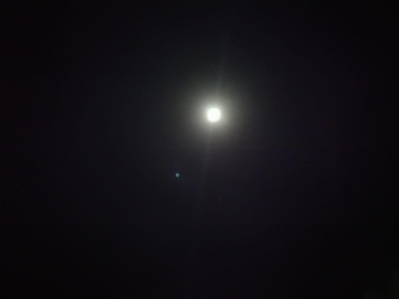 القمر قبيل خسوفة