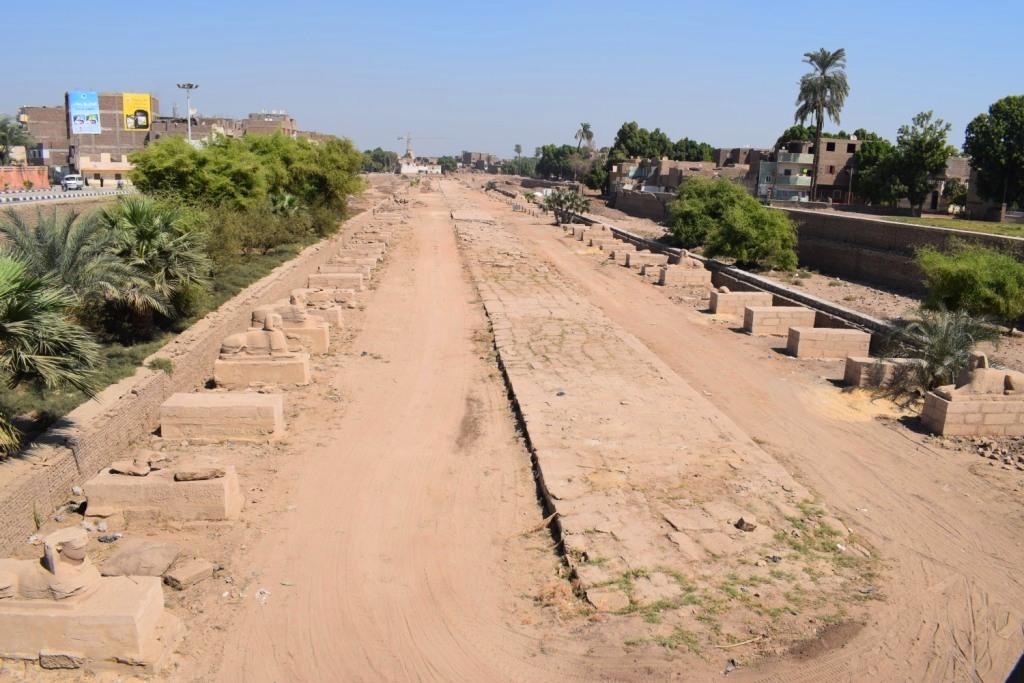 هل يشهد عام 2019 إنتهاء العمل وإفتتاح مشروع طريق الكباش الفرعوني (17)