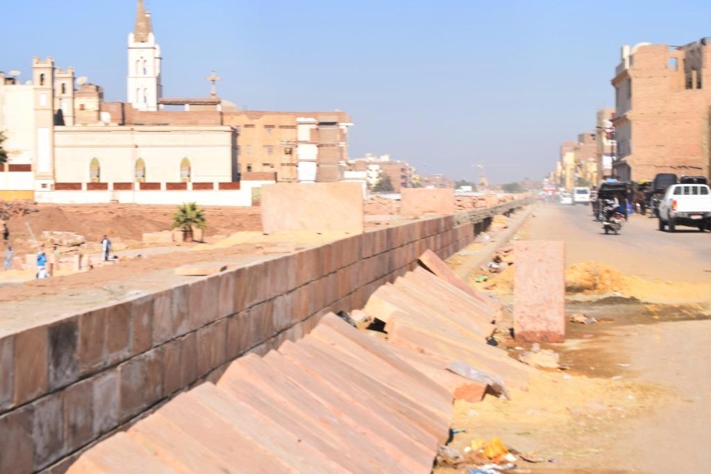 هل يشهد عام 2019 إنتهاء العمل وإفتتاح مشروع طريق الكباش الفرعوني (15)