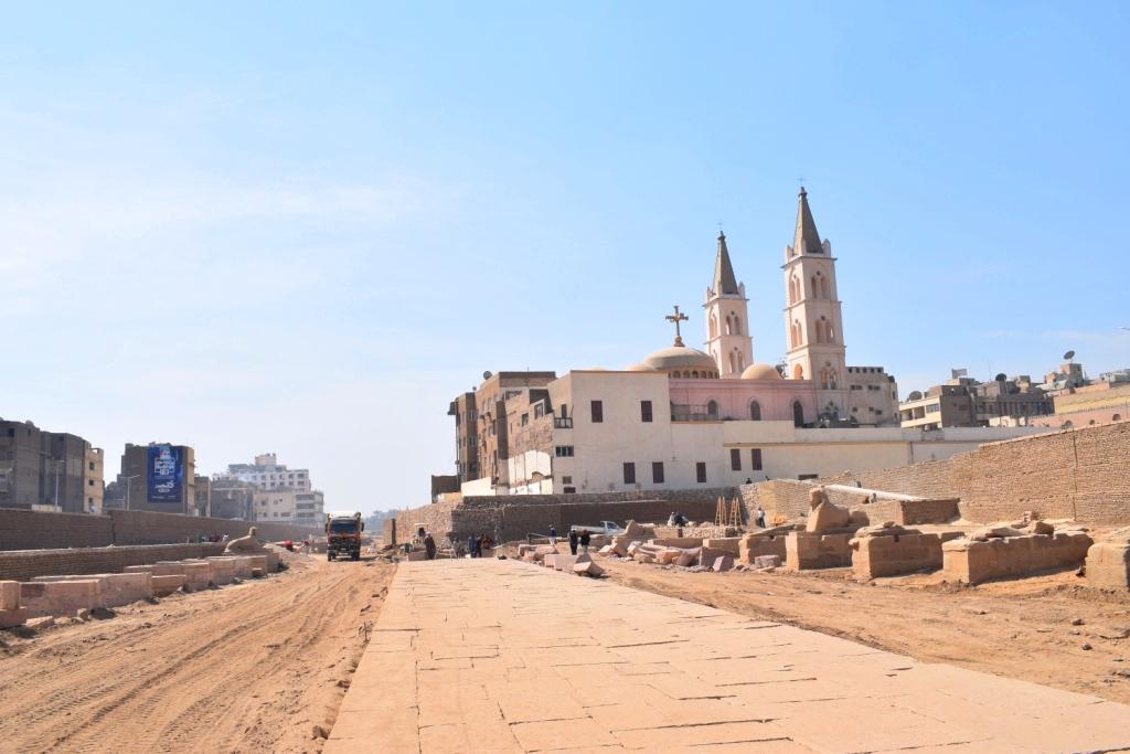 هل يشهد عام 2019 إنتهاء العمل وإفتتاح مشروع طريق الكباش الفرعوني (11)