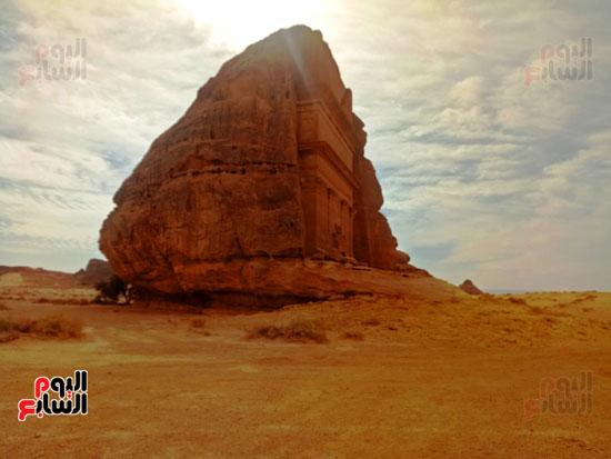 اليوم السابع على أرض مدائن صالح.. حضارة اللحيان والأنباط ترويها المقابر (4)