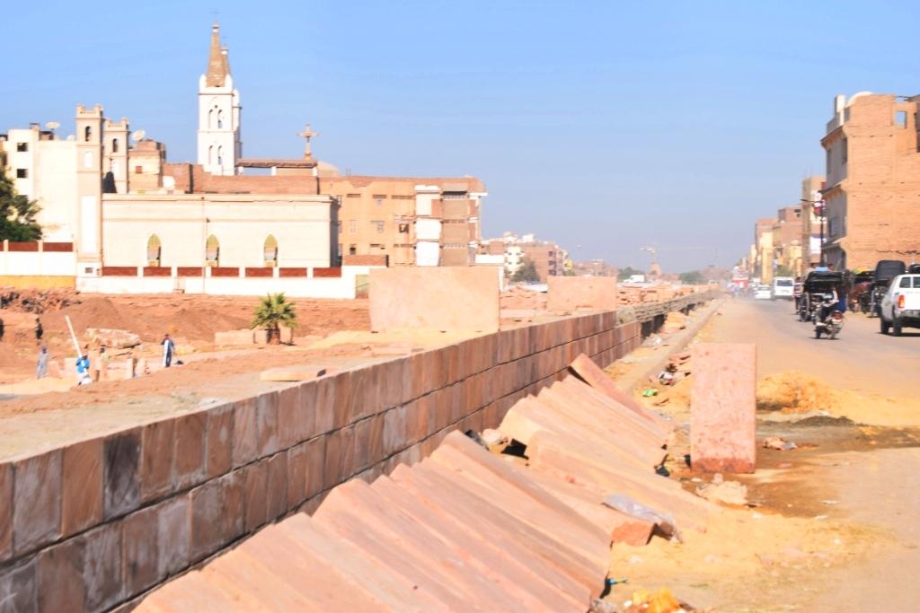 هل يشهد عام 2019 إنتهاء العمل وإفتتاح مشروع طريق الكباش الفرعوني (14)