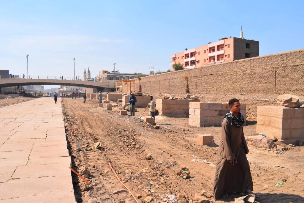 هل يشهد عام 2019 إنتهاء العمل وإفتتاح مشروع طريق الكباش الفرعوني (12)