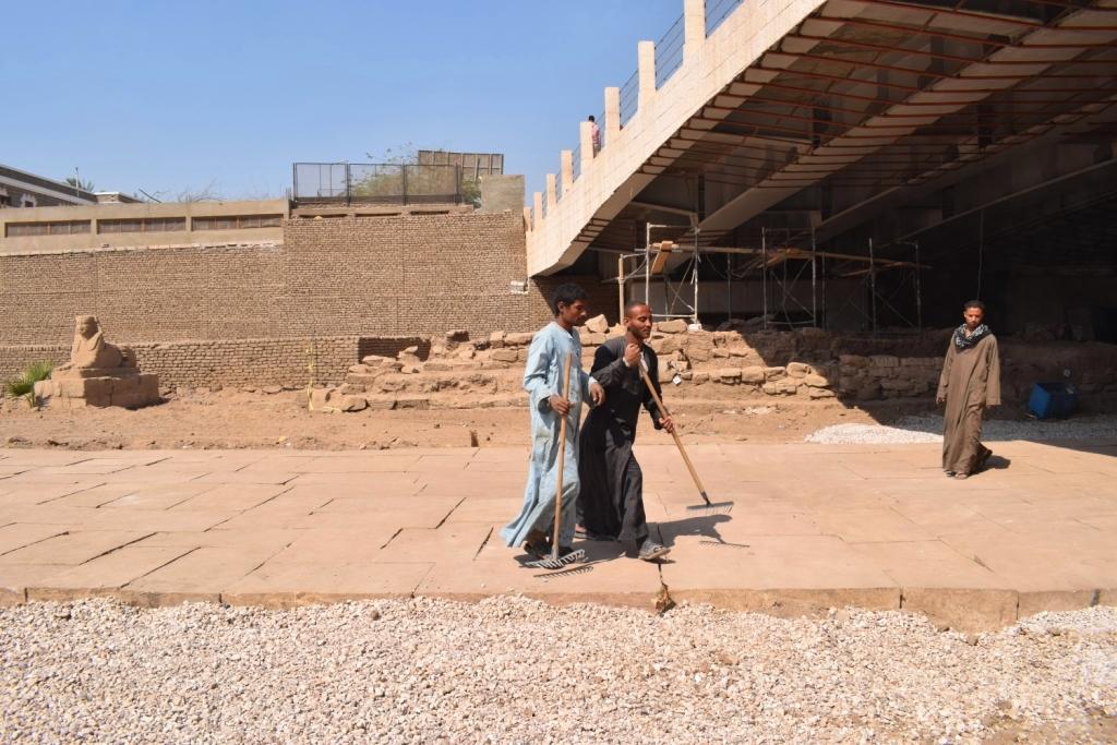 هل يشهد عام 2019 إنتهاء العمل وإفتتاح مشروع طريق الكباش الفرعوني (19)