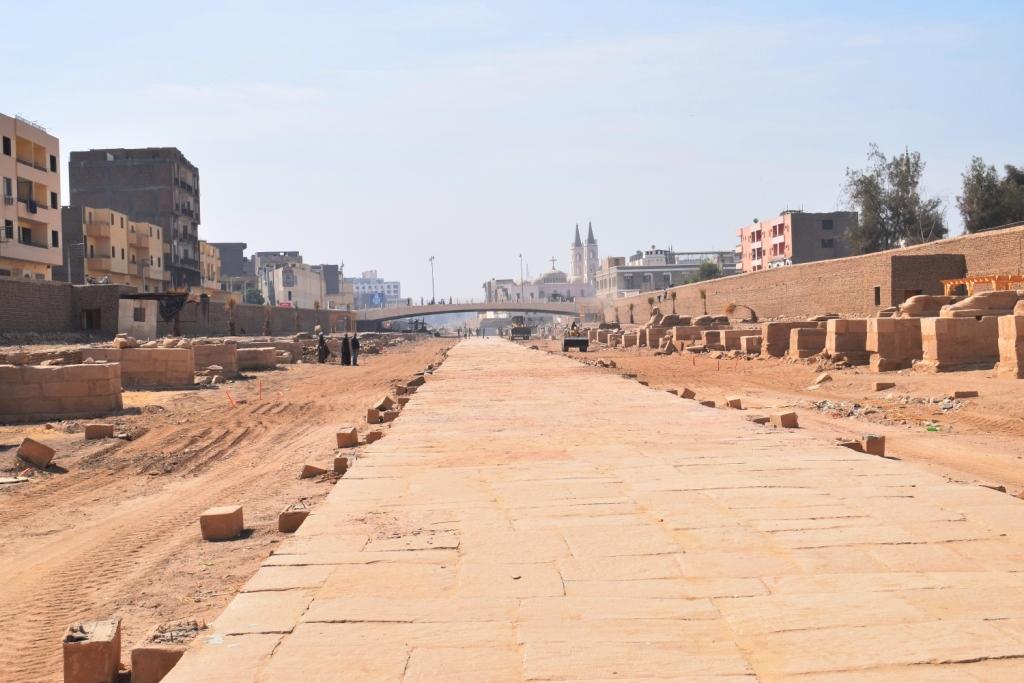 هل يشهد عام 2019 إنتهاء العمل وإفتتاح مشروع طريق الكباش الفرعوني (4)