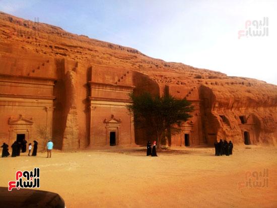 اليوم السابع على أرض مدائن صالح.. حضارة اللحيان والأنباط ترويها المقابر (5)