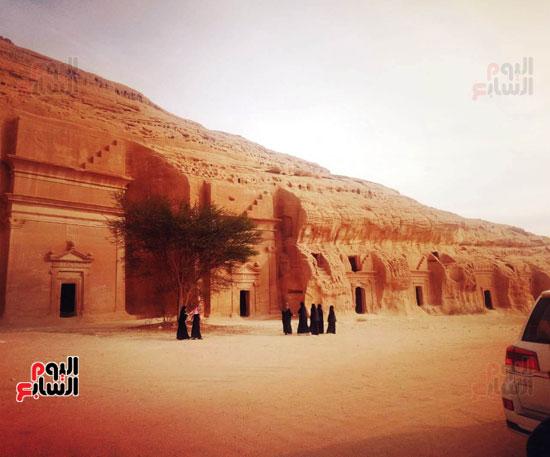 اليوم السابع على أرض مدائن صالح.. حضارة اللحيان والأنباط ترويها المقابر (1)