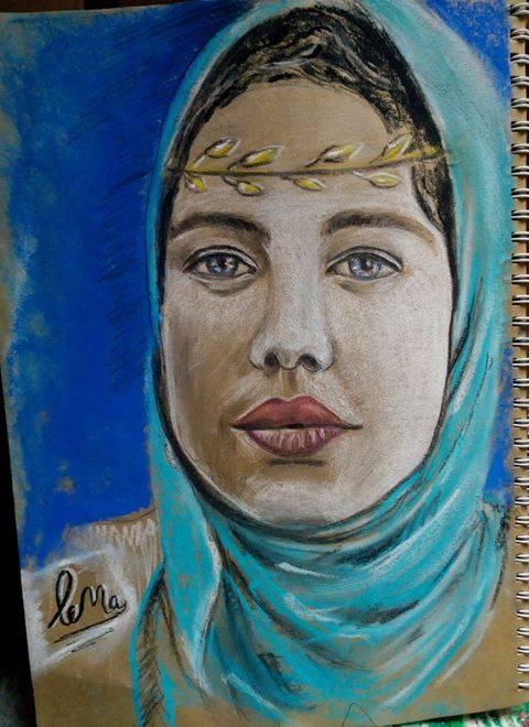 احدى لوحات الموهبة  (2)