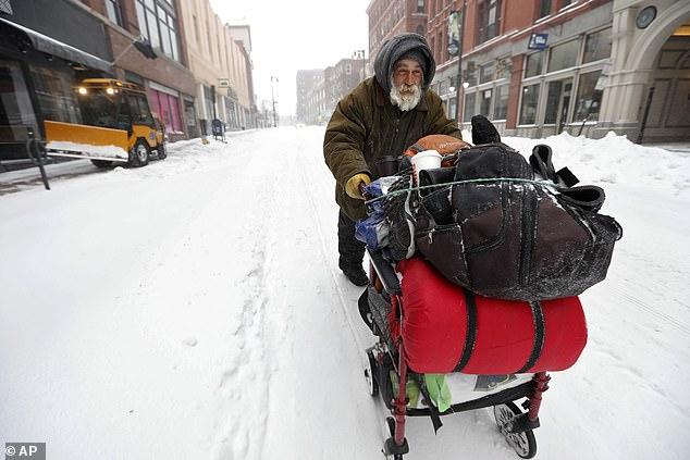 الثلوج تغطى ولاية نيويورك (4)