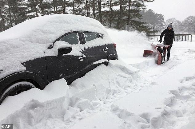 الثلوج تغطى ولاية نيويورك (1)