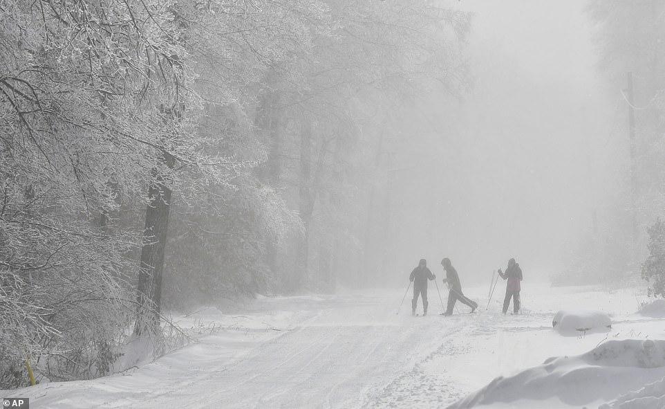 الثلوج تغطى الطرق شرق الولايات المتحدة (4)