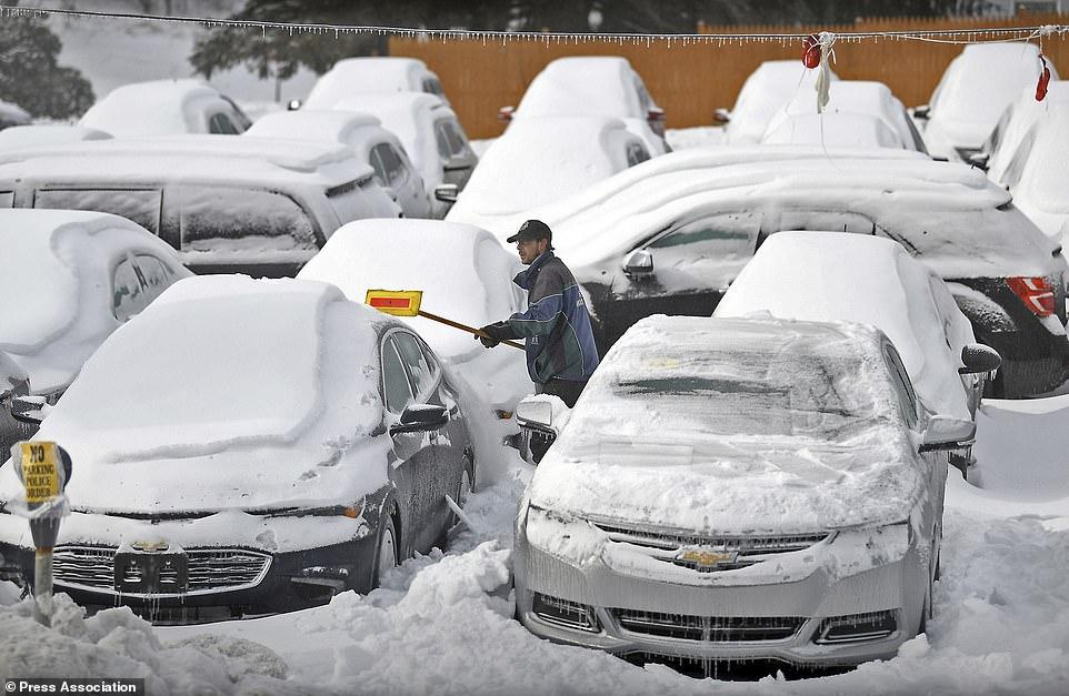 الثلوج فى ولاية بنسلفانيا