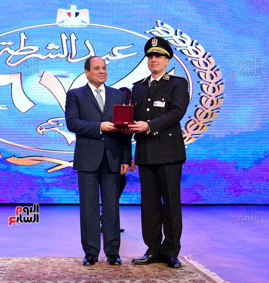 احتفالات عيد الشرطة بحضور الرئيس السيسى (18)