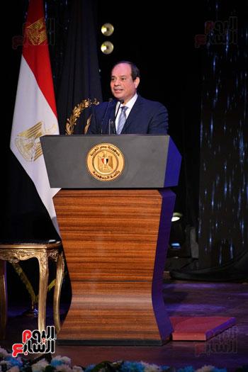 احتفالات عيد الشرطة بحضور الرئيس السيسى (1)