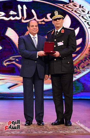 احتفالات عيد الشرطة بحضور الرئيس السيسى (21)