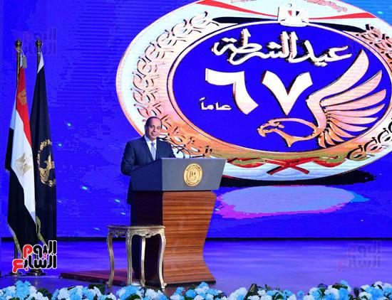 احتفالات عيد الشرطة بحضور الرئيس السيسى (5)