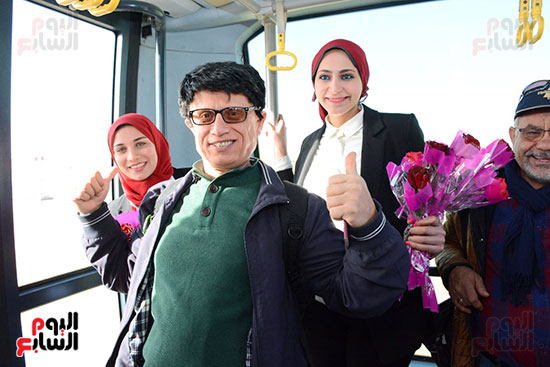 وصول أول رحلة إلى مطار سفنكس قادمة من أسوان (4)