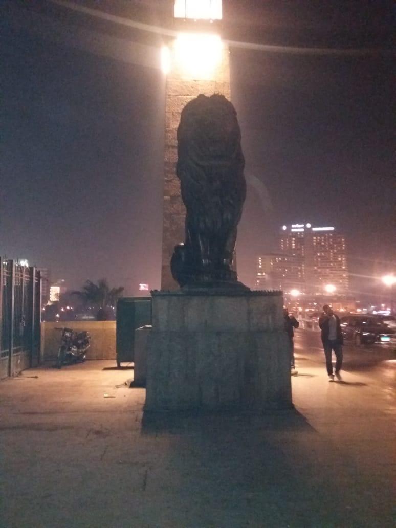 رفع اشغالات بمحيط كوبرى قصر النيل  (5)