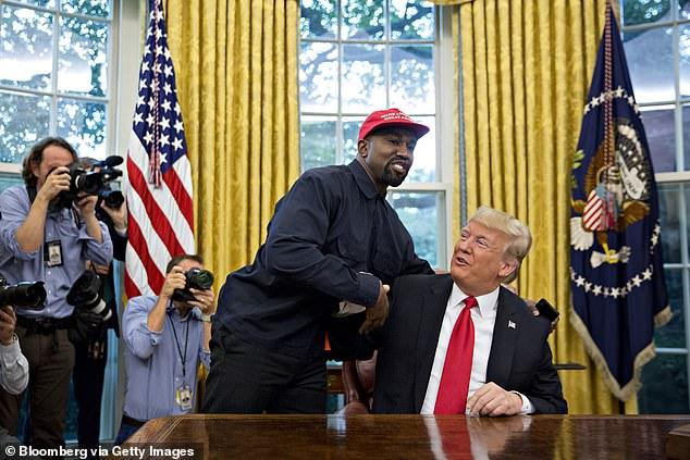 كانى ويست مع ترامب فى البيت الأبيض