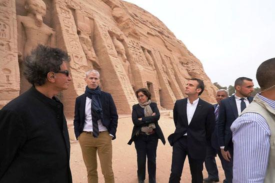 جولة-الرئيس-الفرنسى-بمعبد-أبوسمبل-(1)