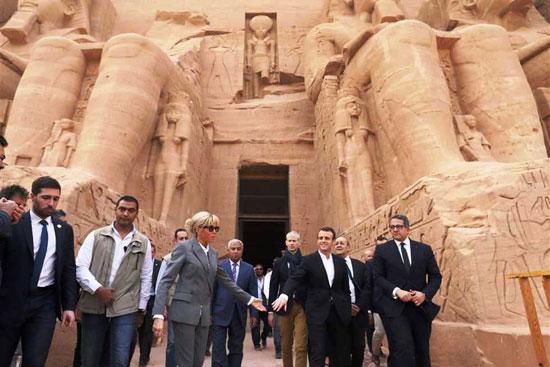 جولة-الرئيس-الفرنسى-بمعبد-أبوسمبل-(4)