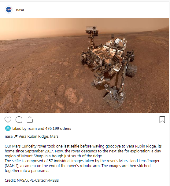 منشور صفحة ناسا