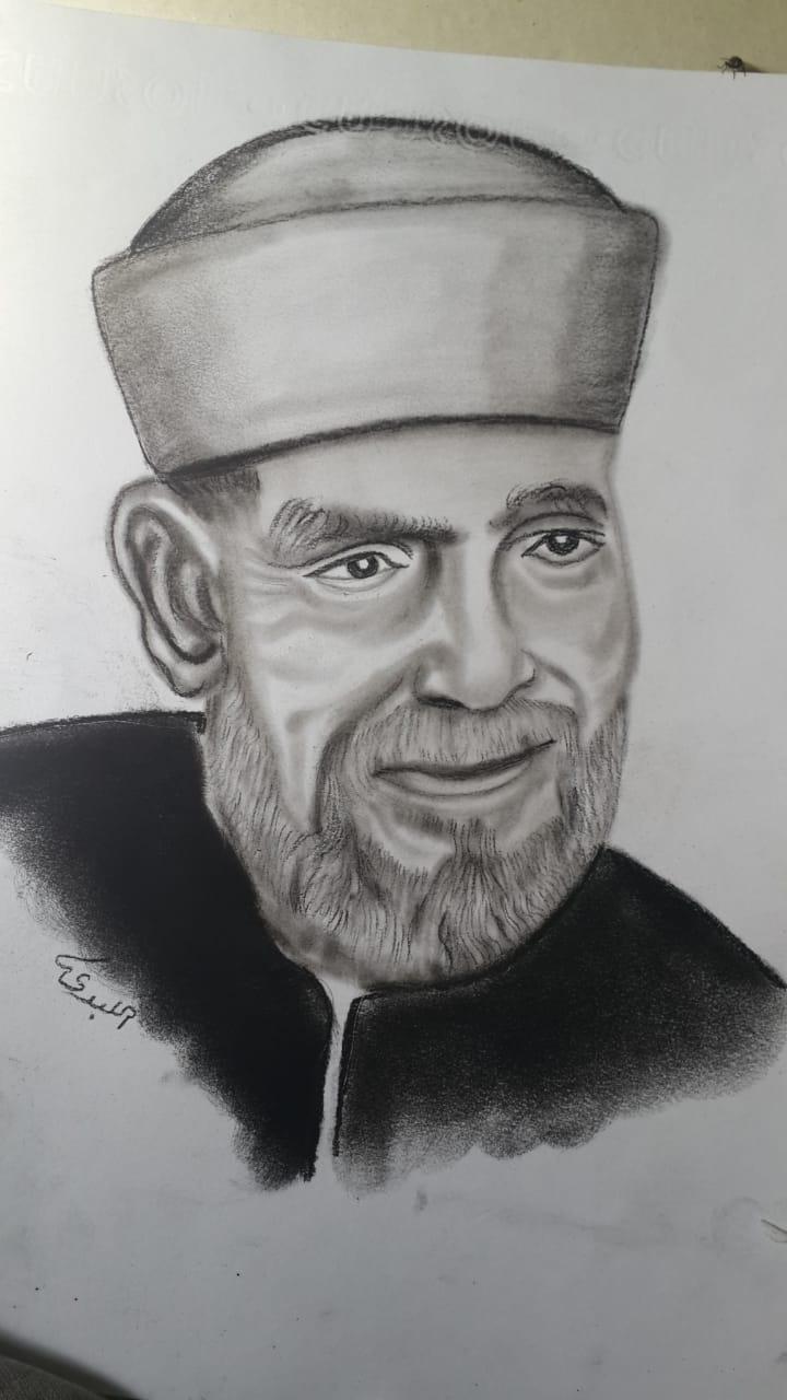 لوحة للقارئ الفنان أحمد ابراهيم اللبدى