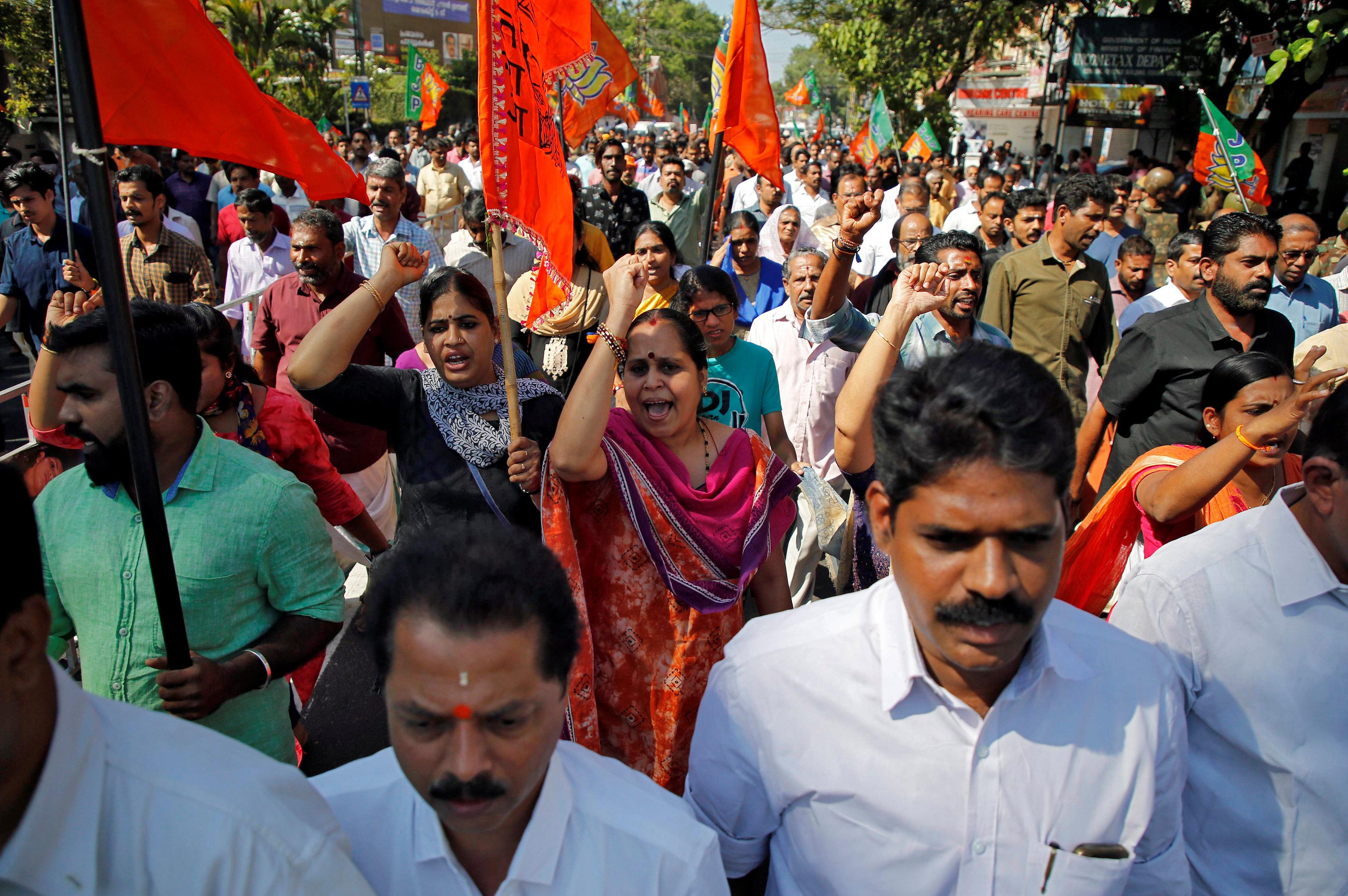 تظاهرات فى الهند