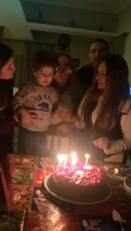 احتفال ليلى علوى بعيد ميلادها