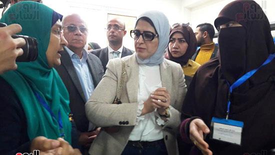 وزيرة الصحة تفتتح وحدتين لطب الأسرة (12)