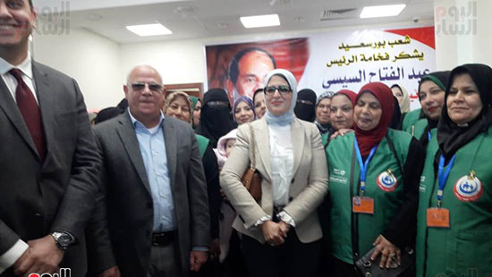وزيرة الصحة تفتتح وحدتين لطب الأسرة (1)