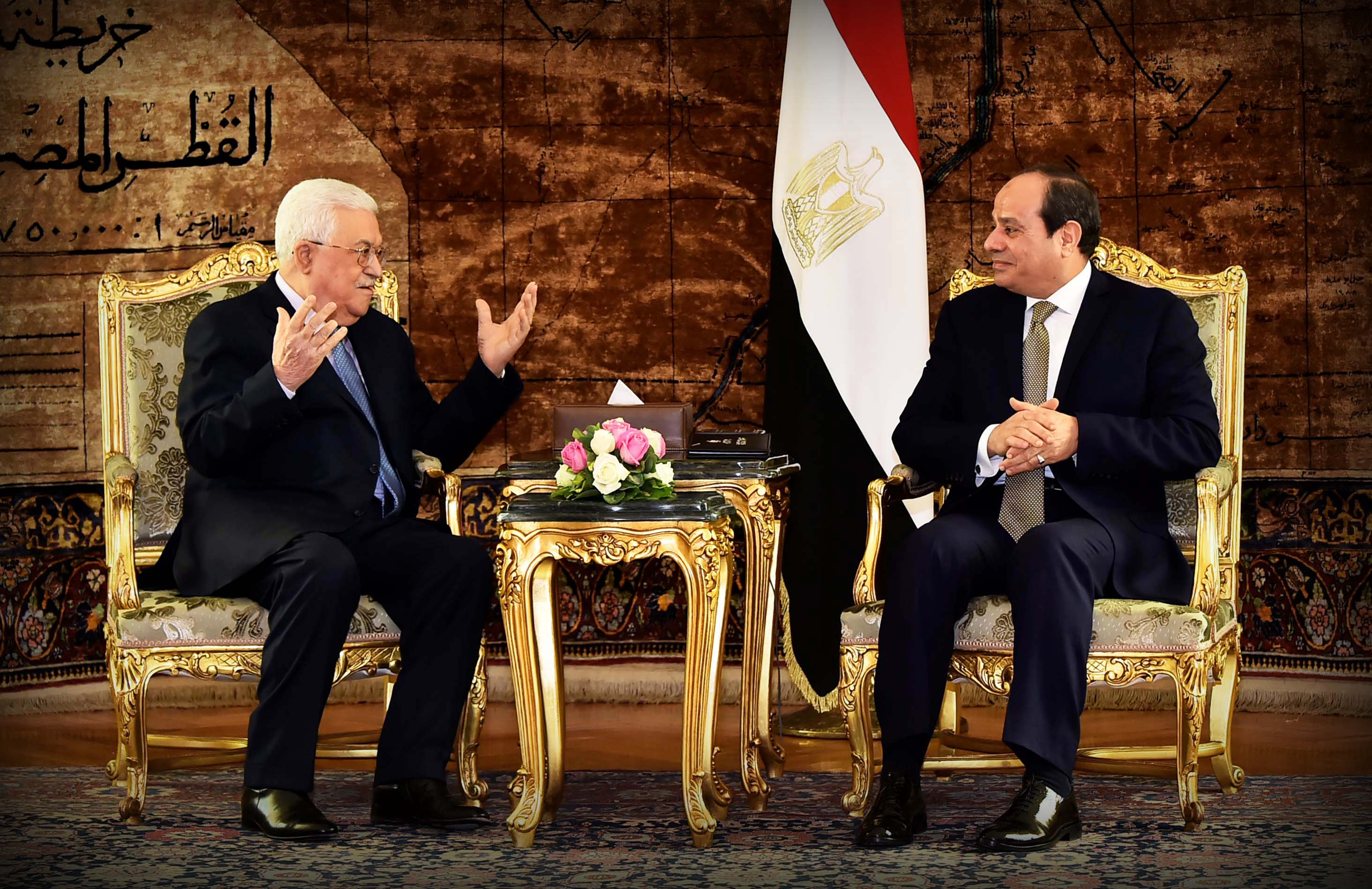 الرئيس السيسى يستقبل الرئيس الفلسطينى محمود عباس أبو مازن